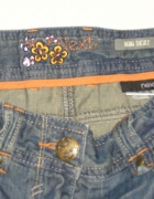 NEXT mini jeansowa spódniczka z zamkami...