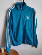 Turkusowa bluza Adidas na zamek S...