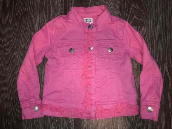 Kurteczka jeansowa różowa 92cm kurtka dżinsowa pink 18 24M