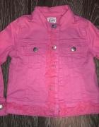 Kurteczka jeansowa różowa 92cm kurtka dżinsowa pink 18 24M...