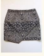 Spódnica mini boho print wypukły asymetryczna 38 M H&M...
