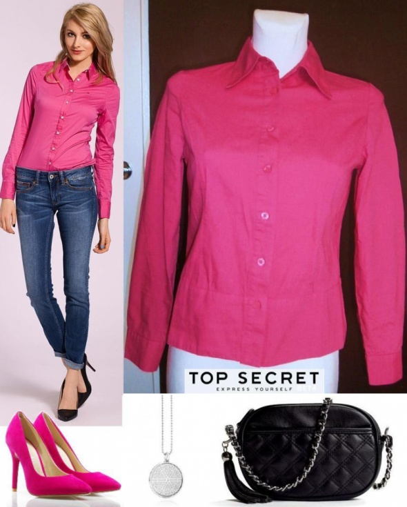 Koszula różowa XS S Top secret