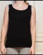Czarna bluzka z metalowymi łańcuszkami MOHITO M