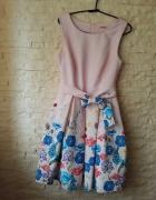 sukienka rozkloszowana kwiaty S łąka