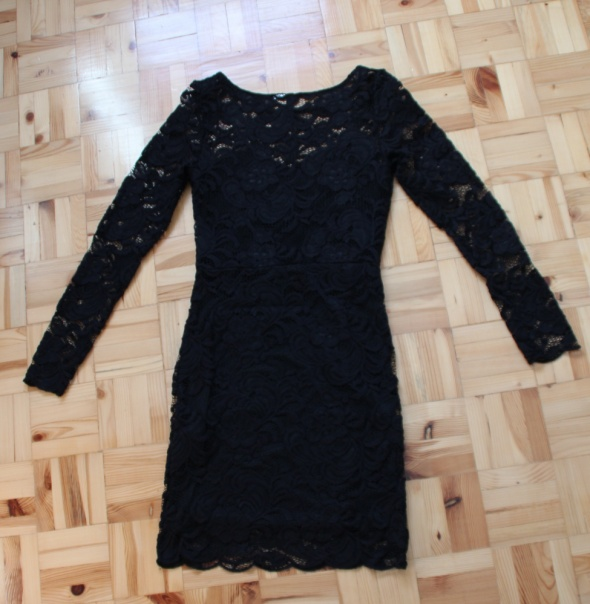 Sukienka koronkowa czarna H&M