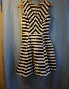 Sukienka biało czarna w pasy Orsay 36...