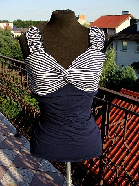 Nowa bluzeczka na szerokich ramiaczkach ORSAY paski L...