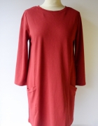 Sukienka Czerwona Indiska Oversize M 38 Elegancka...