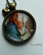 Matka Boska i Dzieciątko Jezus wisior medalion...