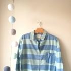 Koszula w paski Pull&Bear błękitna niebieska
