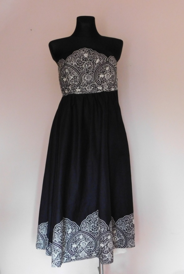 Miss Selfrige sukienka midi gorsetowa czarna 36 38...