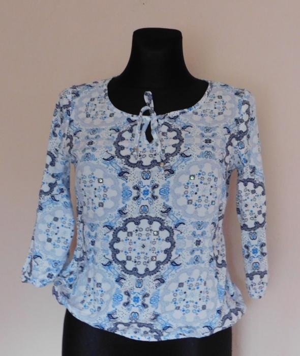 Dorothy Perkins bluzka biała niebieska 38 40...