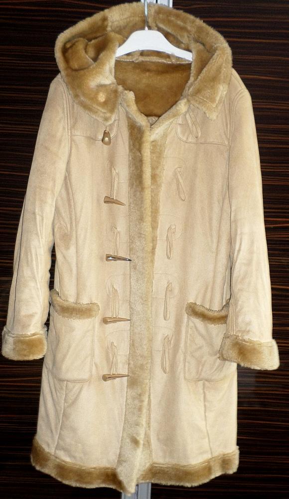 Płaszcz z kożuchem Carmel kożuszek rozmiar S M