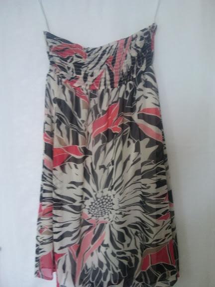 letnia zwiewna kolorowa sukienka Sukienka bez ramiączek