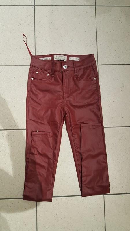 Nowe skorzane spodnie wysoki stan woskowane s vila