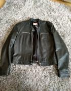 Czarna skórzana kurtka rozmiar 40