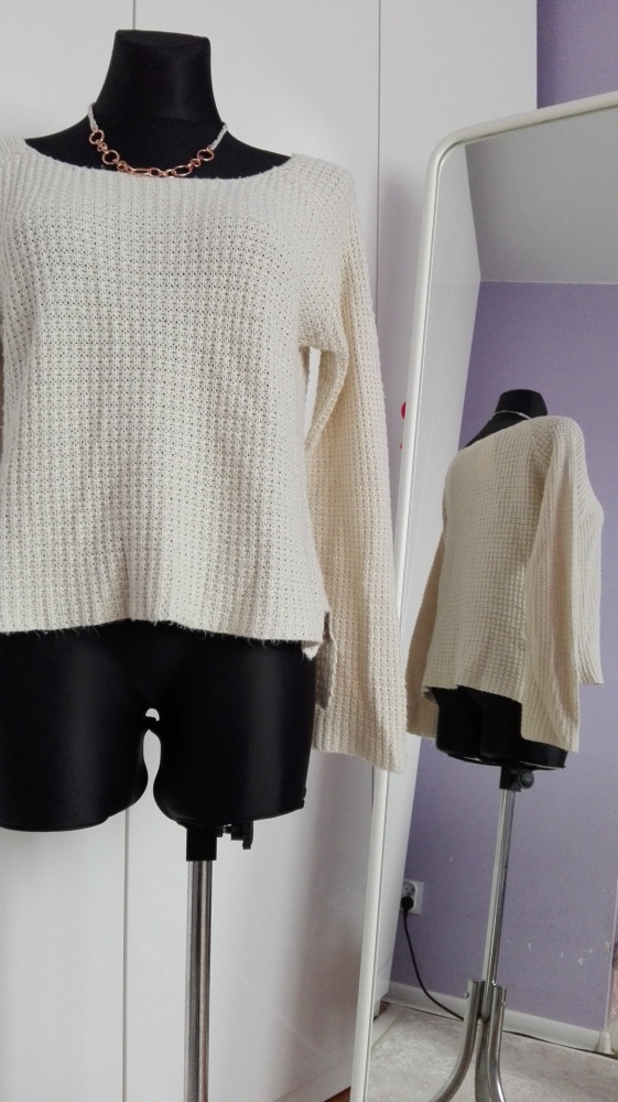 sweter jasny ecri...