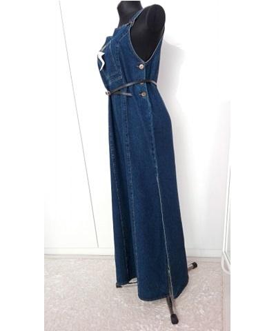 Suknie i sukienki długa sukienka jeansowa