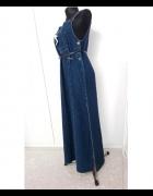 długa sukienka jeansowa