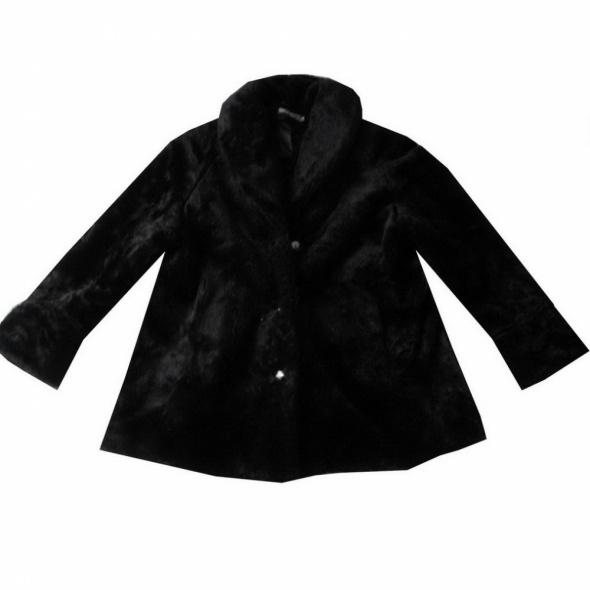 Sztuczne Czarne Futro Futerko Płaszcz 50 52