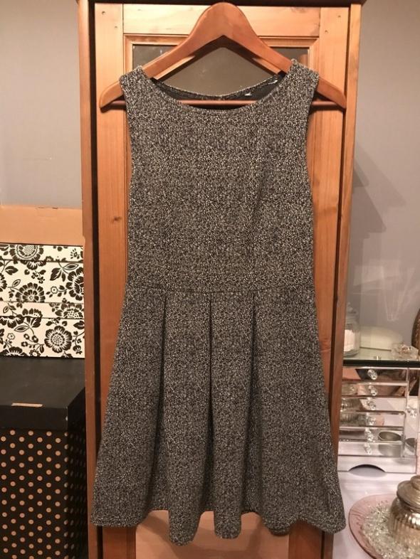 Sukienka biało czarna melanż 36 S