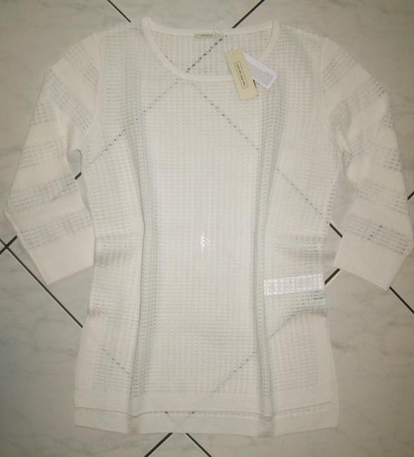 INTIMISSIMI biały ażurowy sweterek damski roz 36