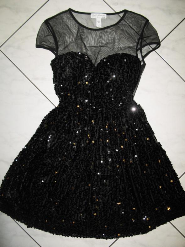 MODEL BEHAVIOUR czarna sukienka z cekinów roz 34