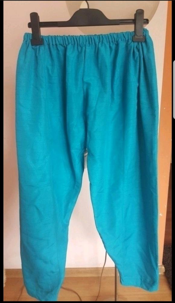 Turkusowe spodnie alladynki