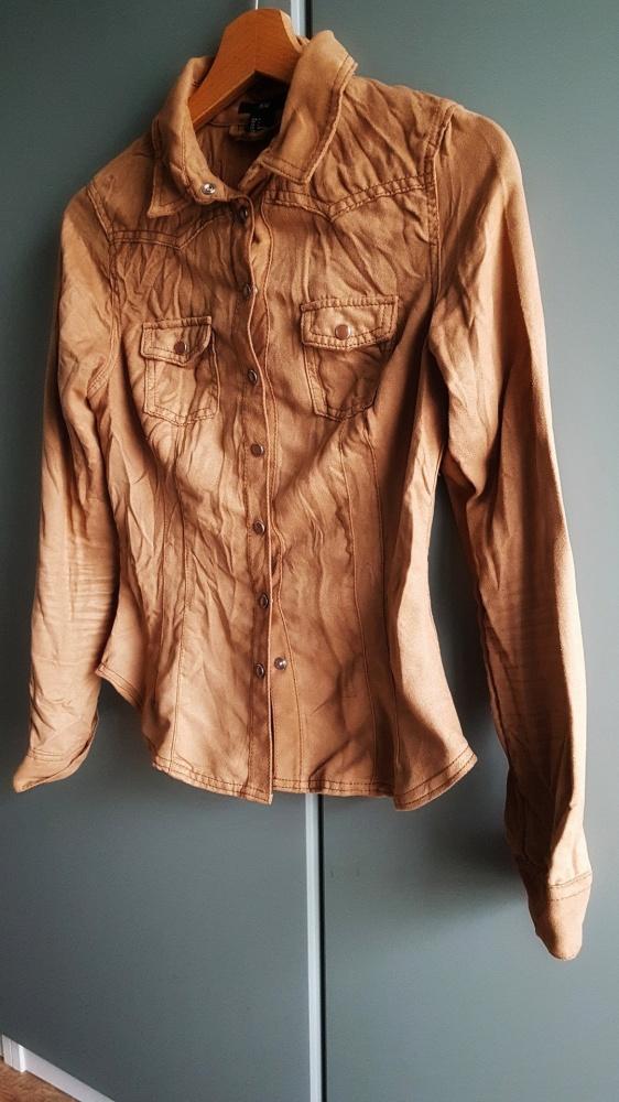 Welurowa ruda koszula...