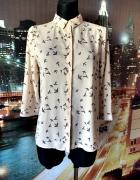 atmosphere koszula modny wzór ptaki ptaszki hit blog 38 M...