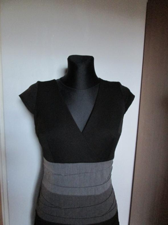 Suknie i sukienki Elegancka sukienka czerń i popiele