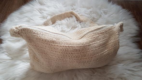 torebka handmade ecru