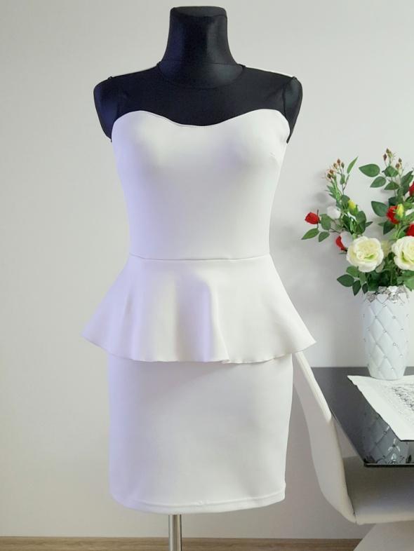 biało czarna sukienka Kama