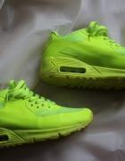Nike Air Max 90 hyperfuse neon żółty limonka w Sportowe