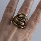 Duży pierścionek Parfois zloty
