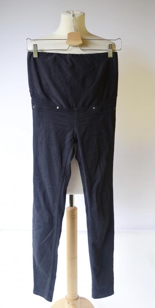 Spodnie Tregginsy Granatowe H&M Mama XS 34 Ciążowe