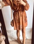 Sukienka Damska w ornamenty elegancka M...