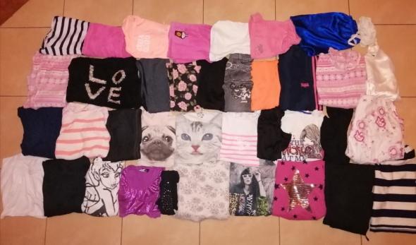 Pozostałe Zestaw paka ubrań dla dziewczynki 38 sztuk rozmiar 152 158 wiek 12 13