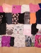 Zestaw paka ubrań dla dziewczynki 38 sztuk rozmiar 152 158 wiek...