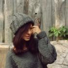 Szara czapka beanie handmade