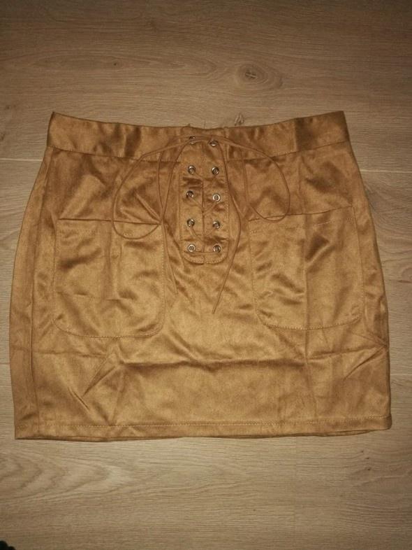 Nowa Zamszowa wiązana spódnica