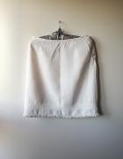 Lniana biała spódniczka GAP S...