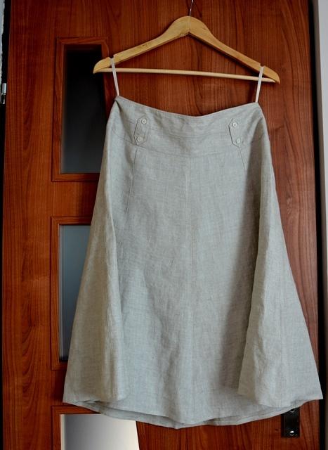 Spódnice Spódnica beżowa lniana r 40