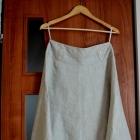 Spódnica beżowa lniana r 40