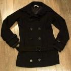 Płaszcz czarny ciepły S
