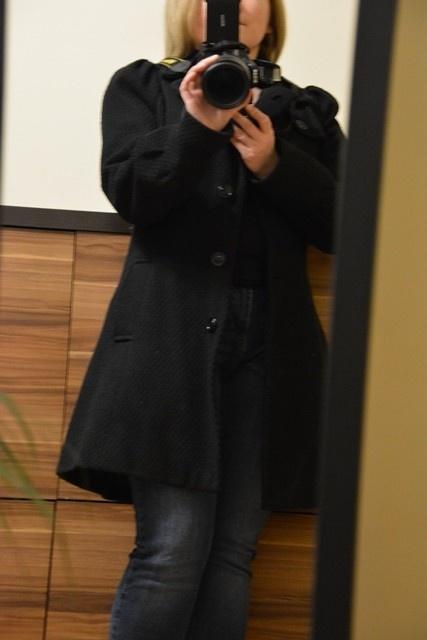 Odzież wierzchnia Płaszcz czarny S