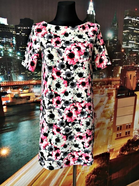 george sukienka luźny fason kwiaty floral casual hit 36 S...