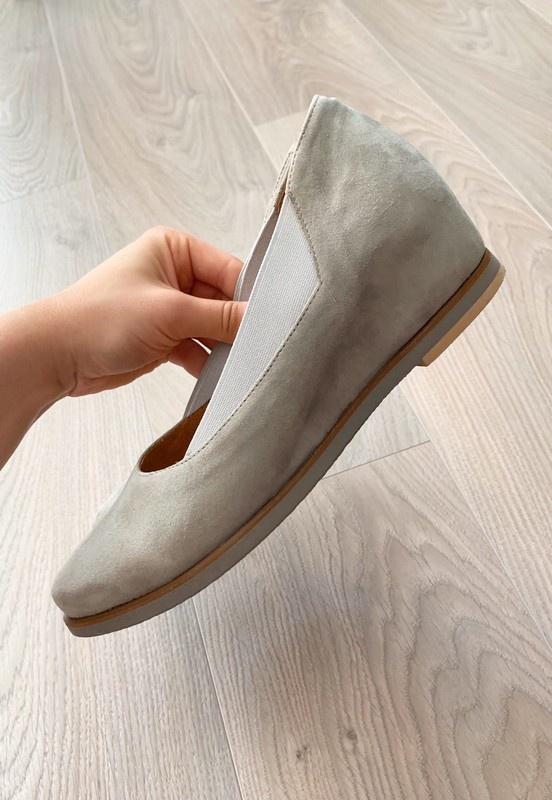 Simen zamszowe buty na koturnie szare skóra 39...