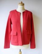 Sweter Marynarka Gina Tricot S 36 Czerwona Elegancka Wizytowa...