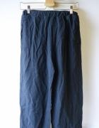 Spodnie Granatowe Lindex S 36 Proste Nogawki Granat...